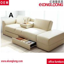 Multifunctional elegant sofa bed with storage box,novel design folding sofa cum bed for living room