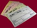 dinero en efectivo formulario de recepción del recibo de impresión de libros de verificación de la recepción