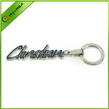 promotional metal enamel custom christina name keychain