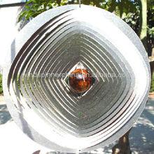 wholesale wind spinner w/gazing ball.