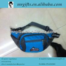 2014 Fashion durable blue nylon men's shoulder cross body backpack waist money belt bag
