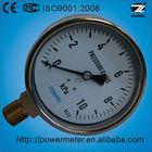100mm brass thread connection capsule pressure gauge water level gauge