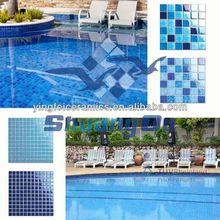 100% porcelain mosaic floor designs glow in the dark tiles for pools,kitchen,bathroom 23x23mm,48x48mm
