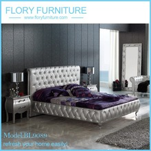 silver bedroom furniture set with leather upholstery
