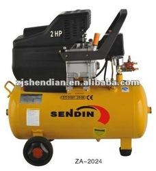 direct portable piston rotary air compressor 2HP 24L
