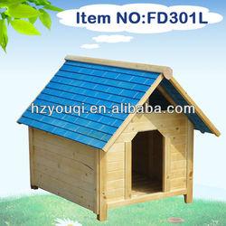 Wooden color roof dog houses& dog furniture