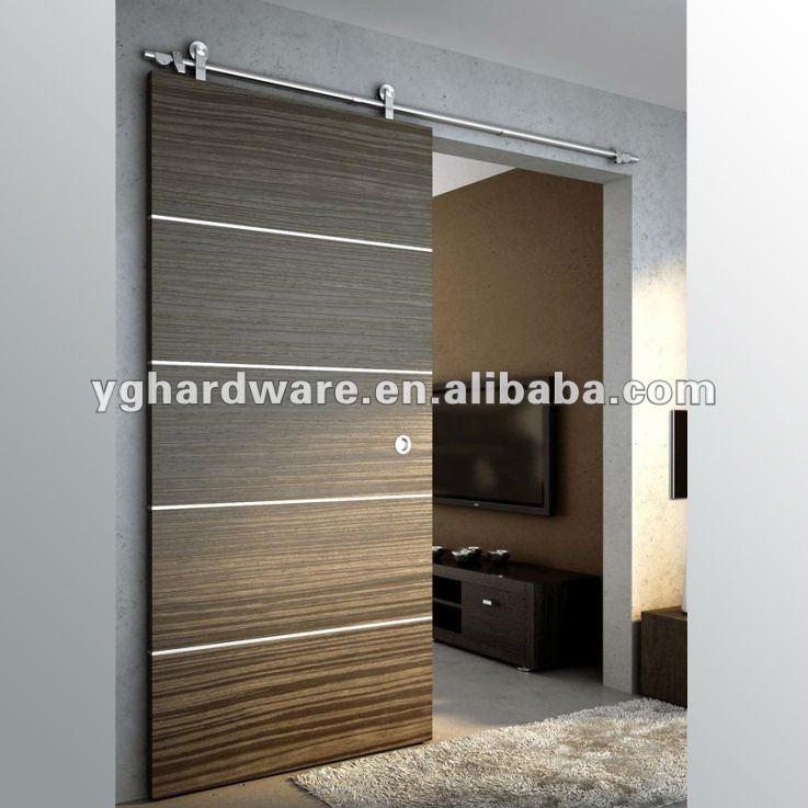 De madera de puertas correderas yg w004 puertas - Puertas correderas de madera para interior ...