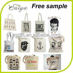 2014 High quality and Cheap organic natural cotton shopping bag