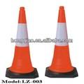 750 mm reflectante conos de tráfico