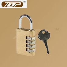 brass 4 dial combination padlock