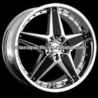 Aluminum Alloy Chrome Tuner Mag wheel 20 inch SOPRANO chrome with black inserts