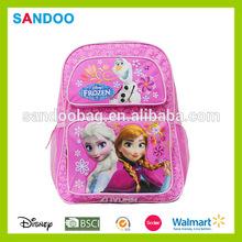 2015 aliabab customize school backpack frozen wholesale children school bags
