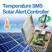 Solar Power Temperature SMS Alert Controller