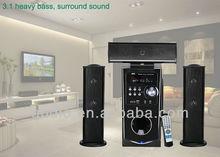 2013 3.1 CH home cinema ,net cloth wooden speaker
