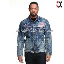 2015 National Flag denim jacket for men denim cotton jackets fabric denim jackets (JXJ25813)