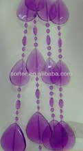 BEAUTIFUL PEARLESCENT PURPLE TEARDROP BEADED DOOR CURTAIN