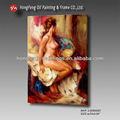 100% handemade lienzo mujer clásica pintura al óleo desnuda