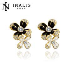Lastest design 18k gold earring with diamond for women
