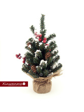 12 inch PVC Snowdrift Fraser Fir mini Christmas tree