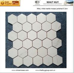 Vietnam milky white marble mosaic