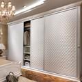 2014 nuevo diseño oppein material de cuero moderno armario de madera
