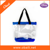 High quality clear cosmetic pvc zipper woman hand bags 2014