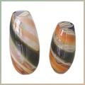 oval em forma de vasos de vidro decorativo