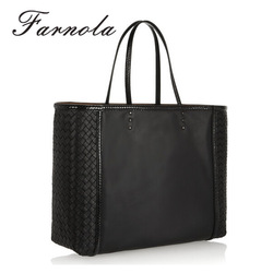 designer brand names woven pattern leather women lady hand bag fashion
