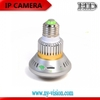 AC 110-220V Non-stop Video Recording WIFI IP Camera ,light bulb camera with 2PCS IR LED Array for Night Vision