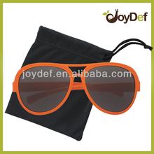 NEW AUTHENTIC LARGE plastic orange AVIATOR sunglasses