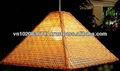 Pirâmide de bambu decorativo abajur
