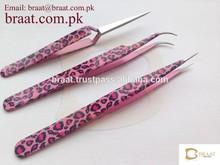 2015 New Eyelash Extension Tweezers / Lash Extension Tweezers / Sharp Pointed Eyelash Tweezers for Professional