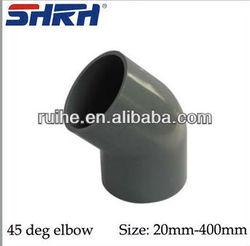 pvc pipe fittings/45 degree elbow