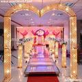 De alta calidad led de cristal arco de decoración de la boda( sgyw- 002)