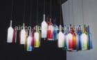 china decorative pendant light jar colorful Glass Bottle chandelier