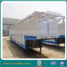 Shandong brand new CIMC 2 axles 3 axles enclosed car carrier trailer for trucks