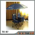 Doble plegable silla de campo con el paraguas mesa& asientos más fresco al aire libre playa, de la piscina