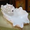 ceramic white creative goldfish fruit plates/dishes