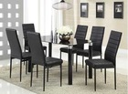 2014 high quality modern durable tempered glass table top and plastic legs dining set/ 7 pieces dining table set
