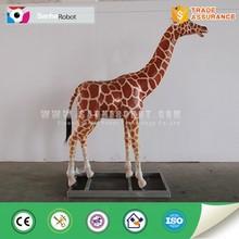 Lifelike decor theme park giraffe