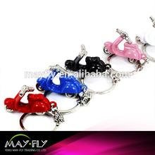Motorcycle pendant metal keychain, German model motorcycle keychain,color keychain