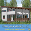 Customized Design wooden villa prefab log home timber frame cabins easy build wooden mobile houses