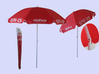 double ribs adverising custom print promotional beach umbrella