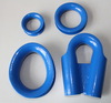 Blue color tube thimble, wire rope protective sleeve, cable wire ring