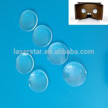 Diameter 25mm focal length 45mm arcylic biconvex lens for google cardboards