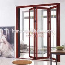 Modern design aluminum toilet bi fold door partition with New zealand lock