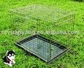 doble puerta plegable de alambre de la jaula del animal doméstico de metal del cajón del perro