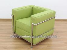 mid century modern furniture - Le Corbusier sofa LC2