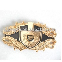 zinc alloy gold plating belt buckle for soldier