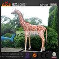 mecánico de la escultura modelo jirafa para robtic patio de recreo de los animales